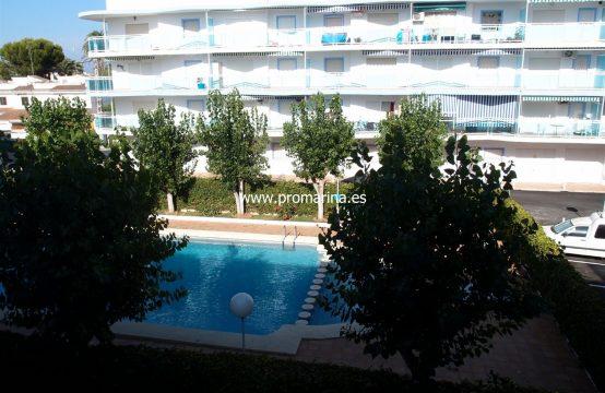 PRO1338AV<br>Alquiler Vacacional en Denia de Apartamento en Primera linea de Playa