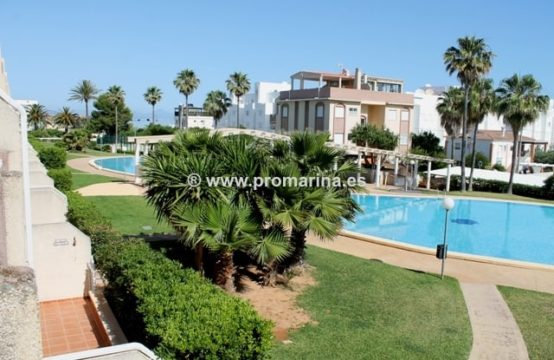 PRO1298C<br>Excellent Apartment on the first line of the beach at km 5 of the marinas of Denia